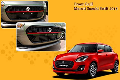 Autopearl Upper Red Front Grill Without S Logo For Maruti Suzuki