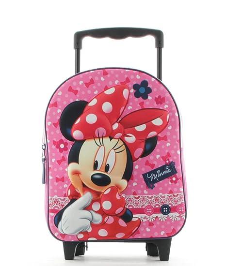 650456bd73 Minnie Mouse Zaino Zainetto Trolley Asilo Scuola per Bambini: Amazon ...