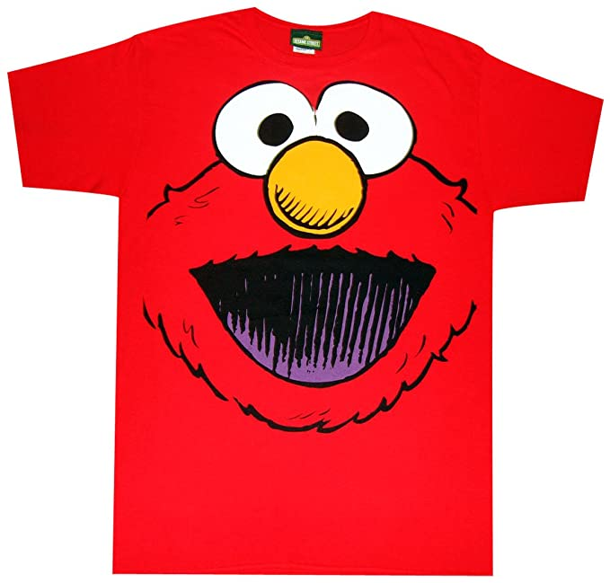 68af8c378 Amazon.com: Sesame Street Elmo Smile Face T-Shirt: Clothing