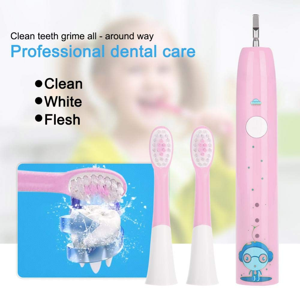 Electric Tooth Brush, Rechargeable USB Charge Teeth Cleaning Tool for Travel for Adults and Kids(Pink) by ZJchao (Image #2)
