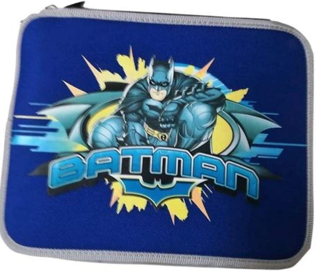 Nero PREZIOSI Astuccio Maxi Batman 2 Zip Blu
