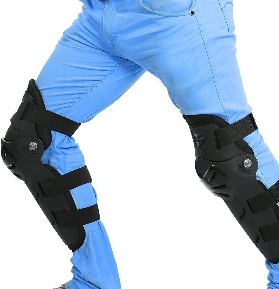 Keesno Protecteur Garde Armure de Coude Genou pour Sports Ext/érieur Moto Cyclisme V/élo Patinage Racing S/écurit/é R/églable 4pcs Set de Genouill/ère Coudi/ères