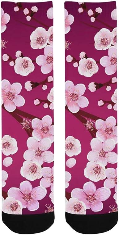 Kawaii Japanese Sakura Crazy Dress trouser Sock For Men Women Kids Outdoor