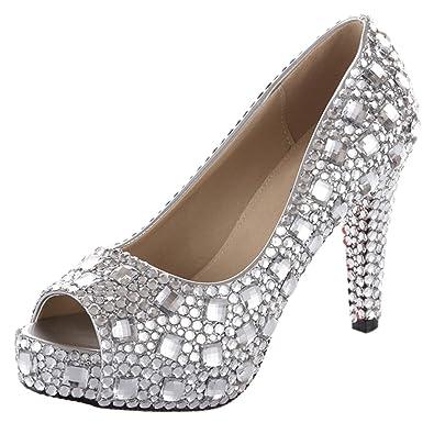 a92d616db23d Silver Wedding High Heels - Heels Zone