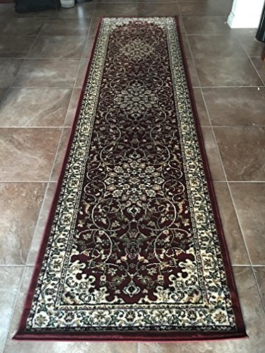 7'10 Inch Red Runner - Rug Tycoon D603Burgundy2ft7inby9ft10inRECRN Area Rug, 2'7