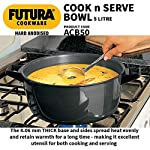 Hawkins Futura Hard Anodised Cook-n-Serve Bowl with Hard Anodised Lid, Capacity 5 Litre, Diameter 23 cm, Thickness 4.06…