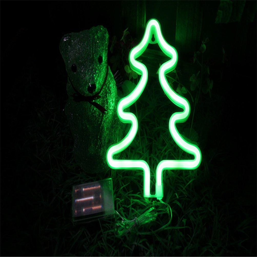LEDMOMO Neon Signs Christmas Tree Night Lights for Christmas Home Decoration (Green)