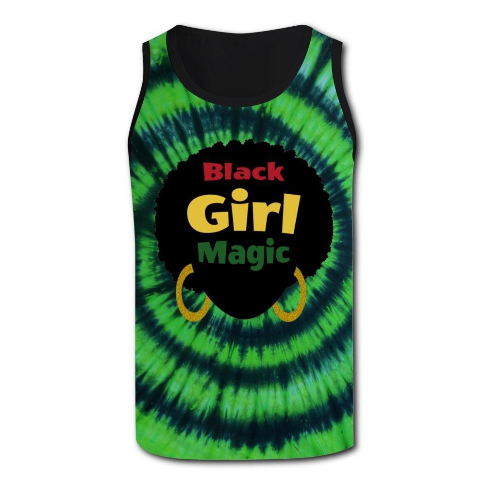 HNkiha Mens 3D Printed Tank Tops Black Girl Magic Vest Sleeveless Casual Shirt