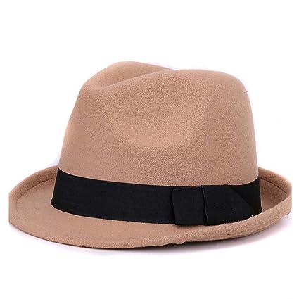 c404ac90cf5 HHF Caps & Hats Women Men Fedora Hat for Winter Autumn Elegant Lady  Gangster Trilby Hat