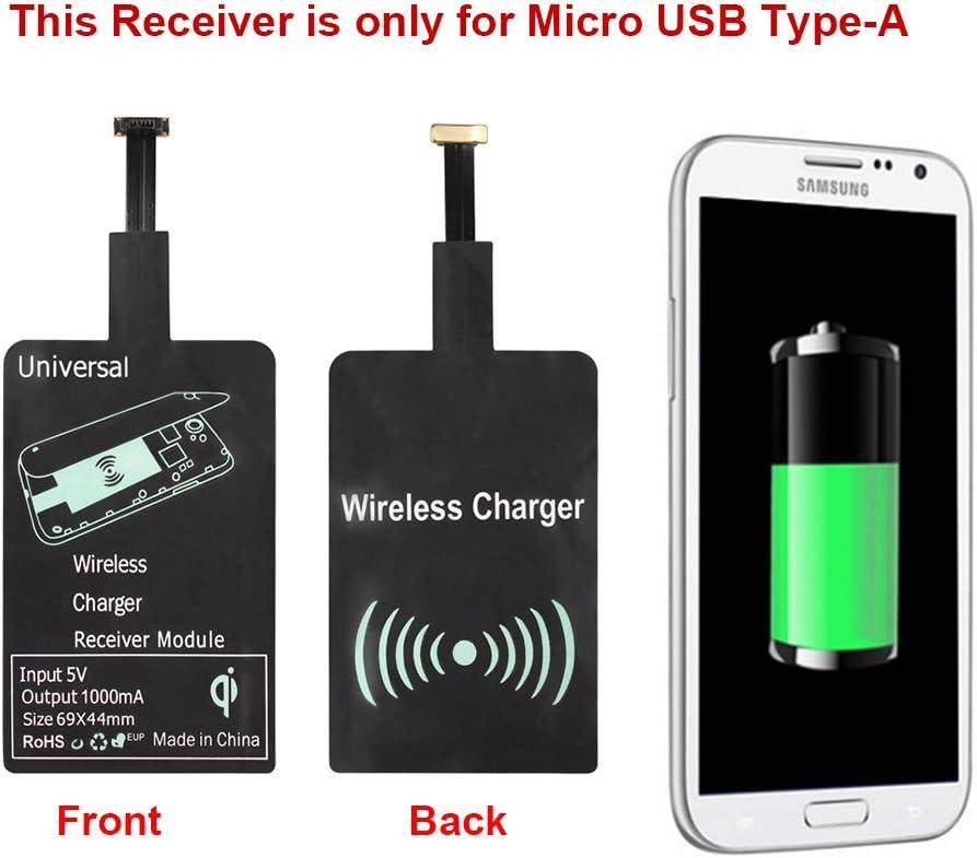 Qrity Qi Wireless Charger Receptor de Cargadores Qi para Samsung Galaxy S2/S3/S4/S5/Note 2/3/4, HTC, Nokia, Blackberry, Pentax, Huawei, VIVO, OPPO Y otro teléfono micro USB Android (Type-A): Amazon.es: Electrónica