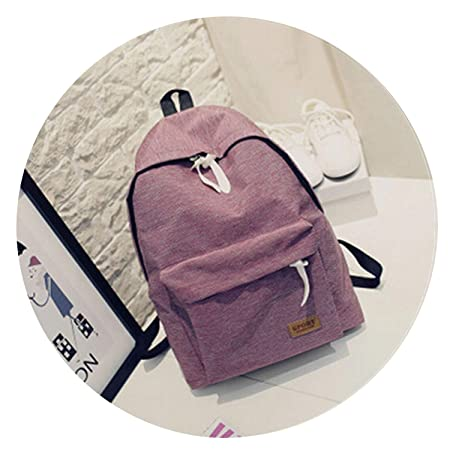 Amazon.com | 2018 Women Canvas Backpacks Ladies Shoulder ...