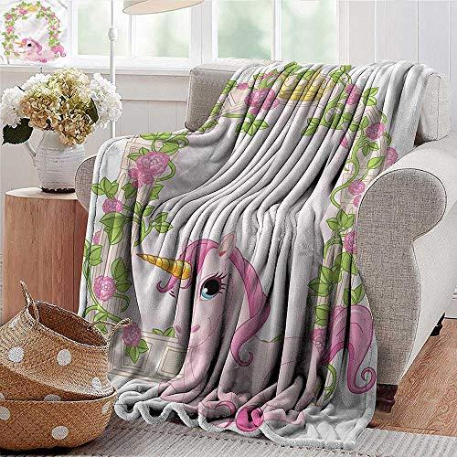 Xaviera Doherty Picnic Blanket Teen Girls,Romantic Floral Arch Sofa Super Soft, Plush, Fuzzy Microfiber Throw Reversible,Comfy 30