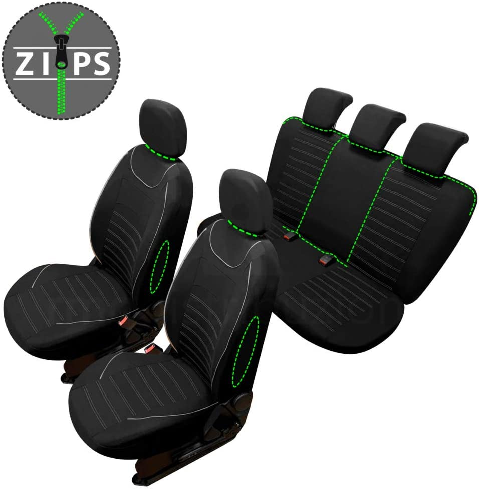 bracciolo Laterale rmg-distribuzione Coprisedili SPECIFICI per Mokka Versione 2012 - in Poi sedili Posteriori sdoppiabili R60S0631 compatibili con sedili con airbag