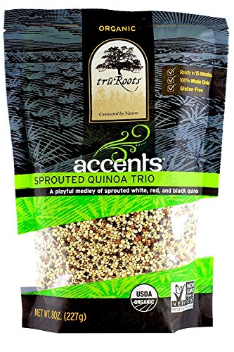 truRoots QUINOA SPRTD TRIO ORG, 8 OZ (Pack of 6) by truRoots
