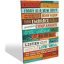 The Barn Today Is A New Day Marla Rae Wood Wall Art Panel, 12 x 18-Inch