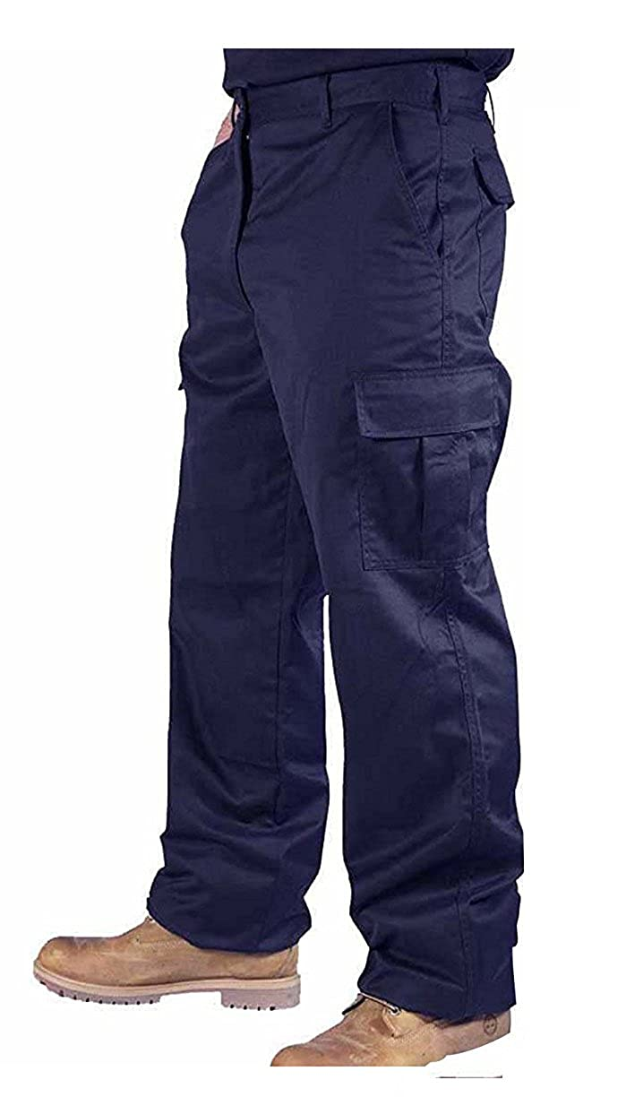 Mcintyre Men's Polyester Cotton Cargo Combat Builders Warehouse Workwear Trouser