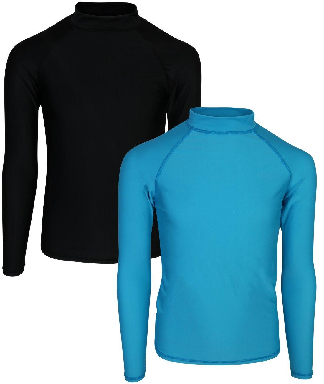 Ingear Swim Girl's Long Sleeve Rash Guard UPF 50+ Shirt (2 Pack)