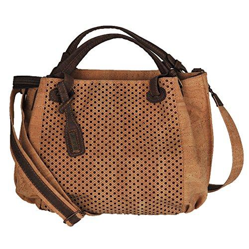 Cork Handbags: Artelusa Cork Handbags. Natural Cork Big Bow Shoulder Bag