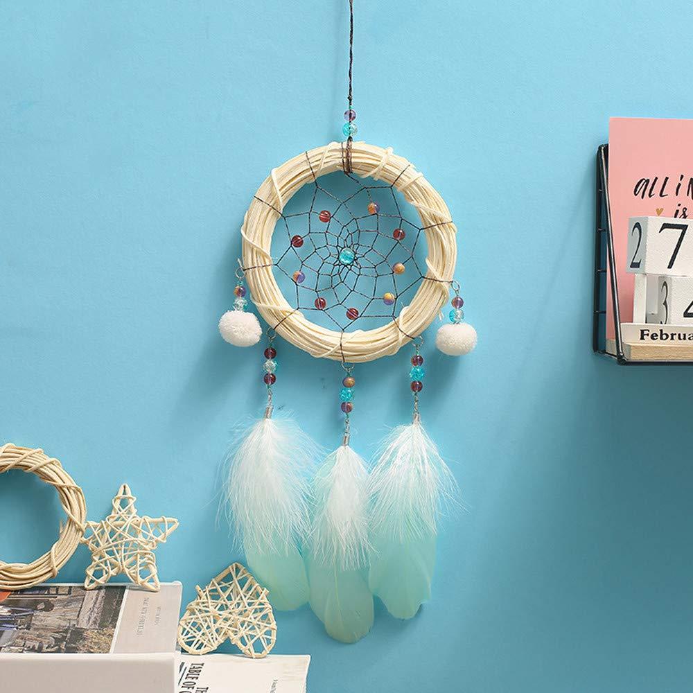 YBWZH Bamboo Strip Dream Catcher Handmade Pendant Wind Chime Night Light Dreamcatcher Room Home Decor Multicolor