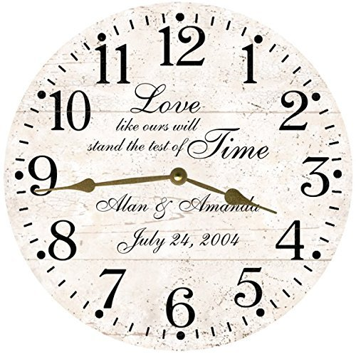 Test of Time Personalized Wedding Clock- Anniversary Clock (Print Battery Cart)