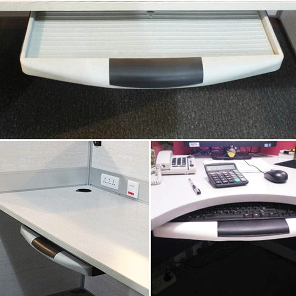 GPFDM Under Desk Computer Keyboard Tray,under Desk Keyboard Drawer Mount Slider Tray Pull Out Platform Drawer Computer,White