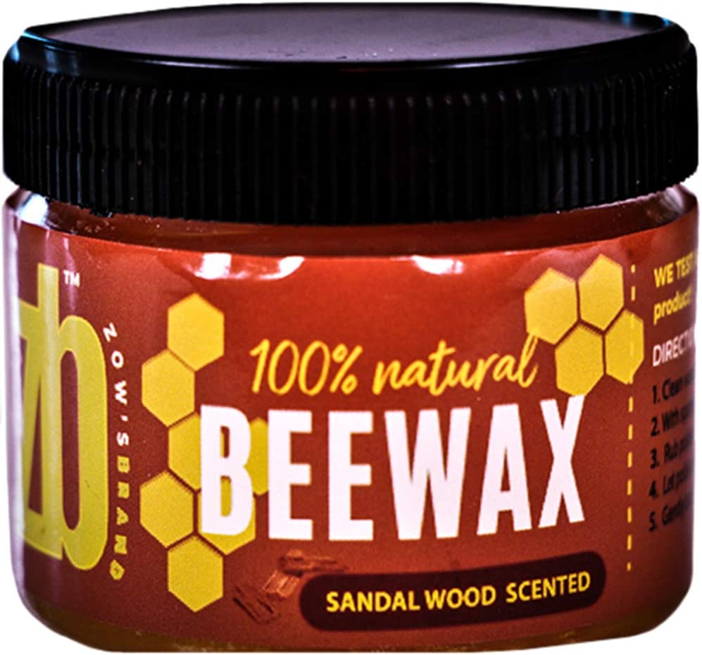 Wood Seasoning Beewax Polish, (Sandal Wood, Tea Tree, Lavender Scents), Traditional Beeswax Polish, Wood Polish, Natural Wood Wax, Beeswax Polish for Furniture, Chairs, Wood and Metal (1-Pack)