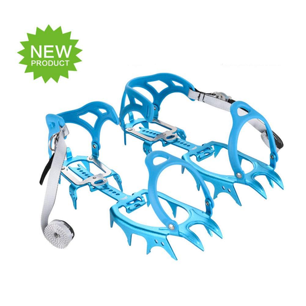 Tentock Outdoor Crampons à Griffes à 14 Dents pour Bottes de Marche - Crampons en Alliage D'aluminium pour Escalade en Montagne
