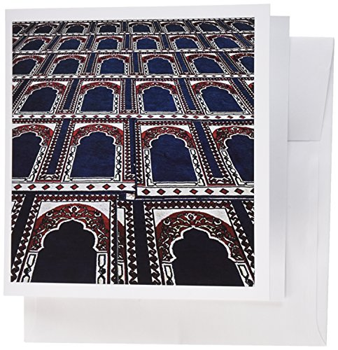 (3dRose Pattern of Prayer Rugs Islamic Mosque Cairo Egypt-AF14 AJE0030 Adam Jones Greeting Cards, Set of 6 (gc_74155_1))