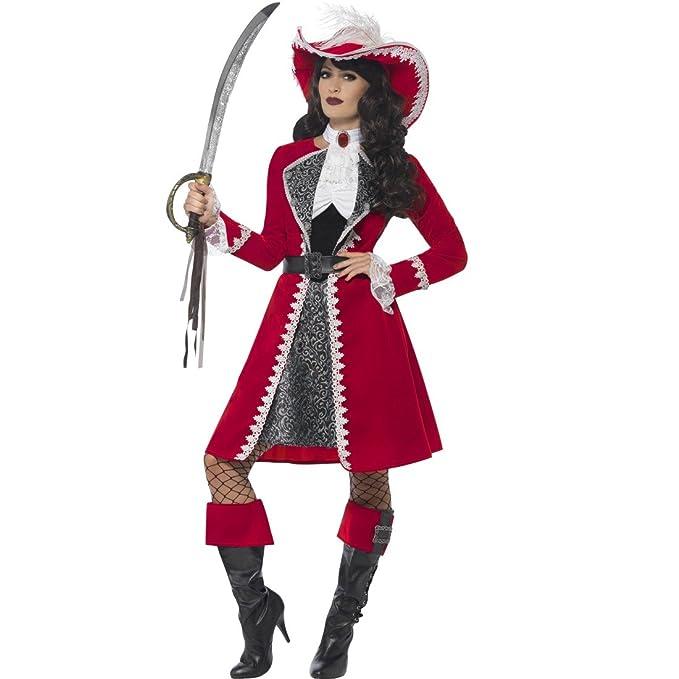 NET TOYS Disfraz Pirata Dama - S (ES 36/38) | Vestido ...