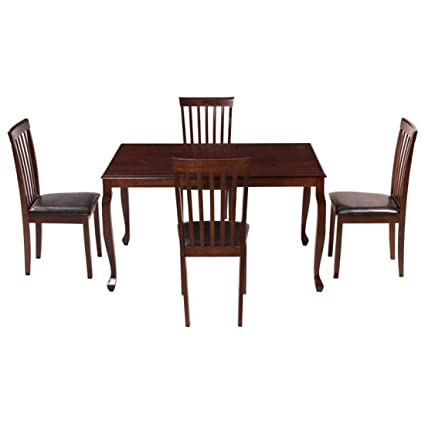 Woodness Mali 28005+27026 4 Seater Dining Table Set (Matte Finish, Wenge)