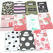 Ainest Nice 50pcs Wholesale Pretty Mixed Pattern Plastic Gifts Mini Bags Shopping Bags