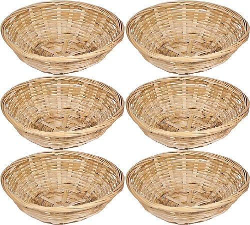 Get-Goods-Cestas-de-bamb-para-pan-aperitivos-etc-6-unidades-redondas