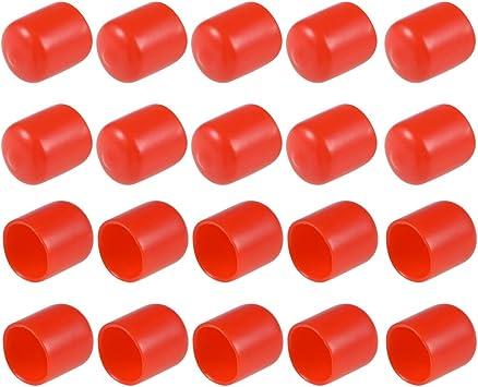Protector de rosca de tornillo Sourcingmap tubo de tapa de extremo redondo
