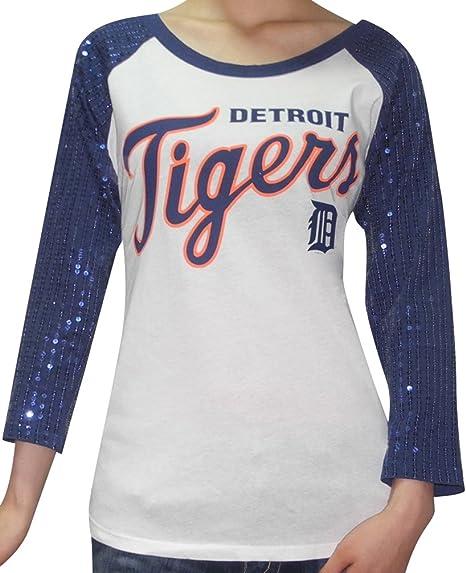 MLB para mujer tigres de Detroit Athletic 3/4 camiseta de ...