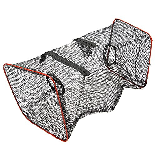 Fishlander nets fishing trap cast net foldable zips for Fishing pole crab trap