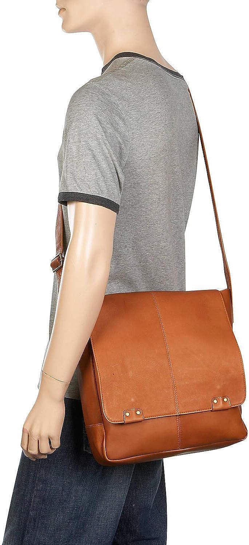 Le Donne Leather Rivet Laptop Messenger Bag Premium Full-Grain Colombian Vaquetta Leather Bag, 14 x 14