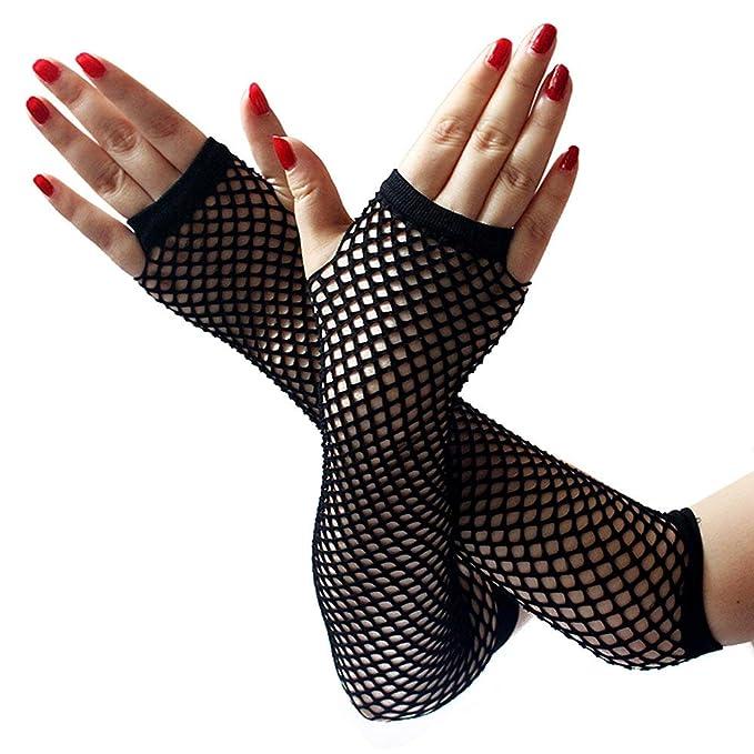 Handschuhe Fingerlose Netzhandschuhe schwarz Handschuhe Netz