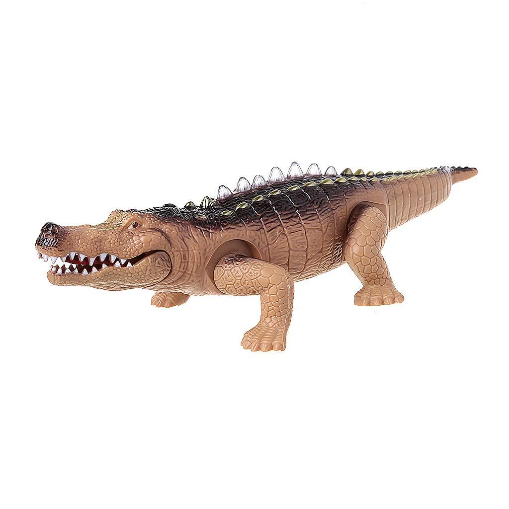 Junlinto elektrisches Krokodil-Spielzeug-Simulation, die Alligator mit Lichteffekt-Spaß-Spielzeug kriecht