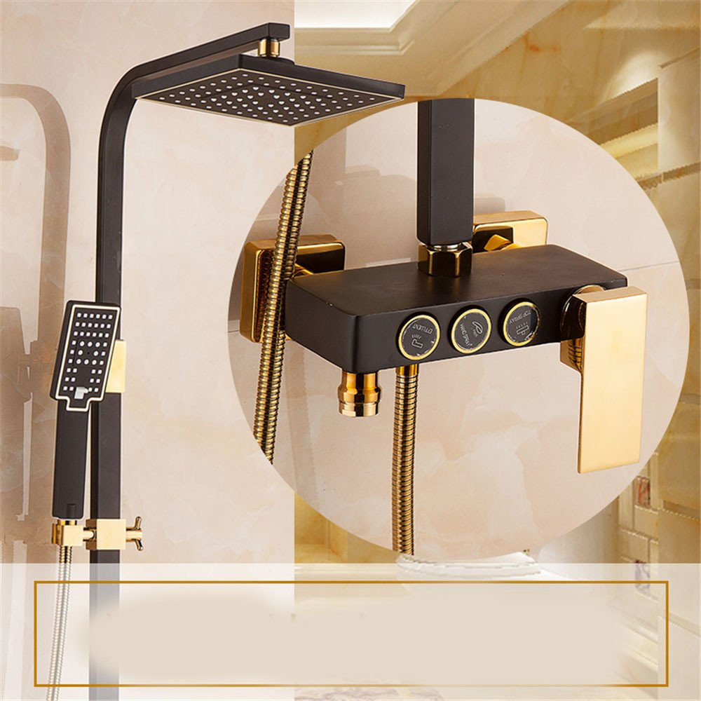 E Hlluya Professional Sink Mixer Tap Kitchen Faucet Shower Kit Full brass faucets cold water shower head shower head wall shower,