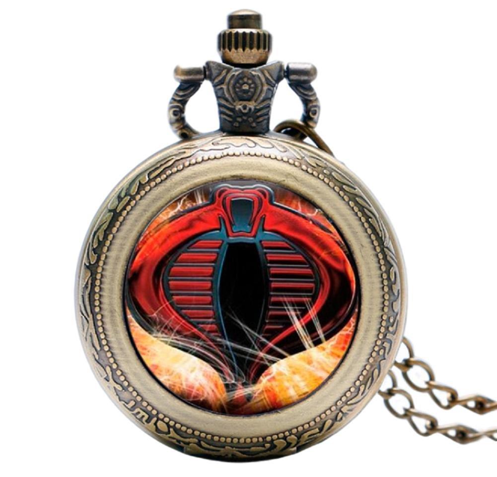 G.I. Joe Cobra Glass Dome Bronze Finish Pendant Pocket Watch