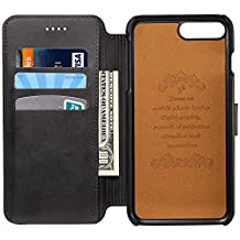 leather iPhone case wallet phone case holder flip cover