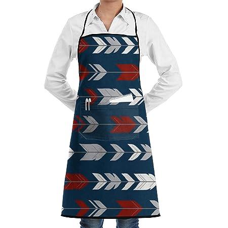 Delantal de chef de cocina ajustable con plumas de flecha de tela ...