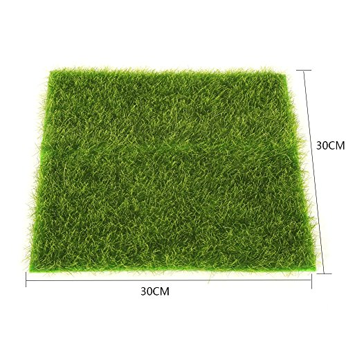 Artificial Grass Mat Plastic Lawn Grass Indoor Outdoor Green Synthetic Turf Micro Landscape Ornament Home Decoration ( Size : 30cm X 30cm - Landscape Grass