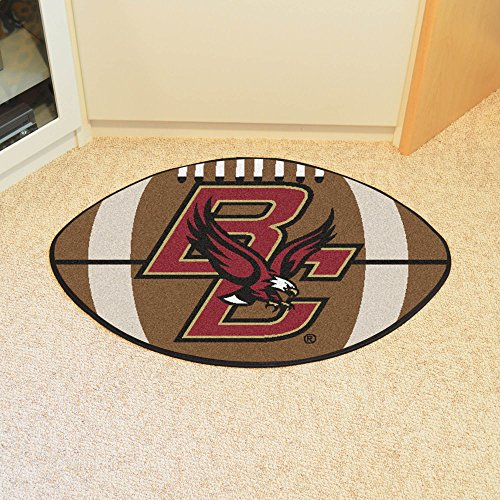 Boston College Eagles Football Floor Mat - Maroon and Gold BC Colors ()