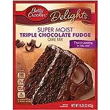 (US) Betty Crocker Baking Mix, Super Moist Cake Mix, Triple Chocolate Fudge, 15.25 Oz Box