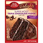 Betty Crocker Super Moist Cake Mix Triple Chocolate Fudge 15.25 oz Box