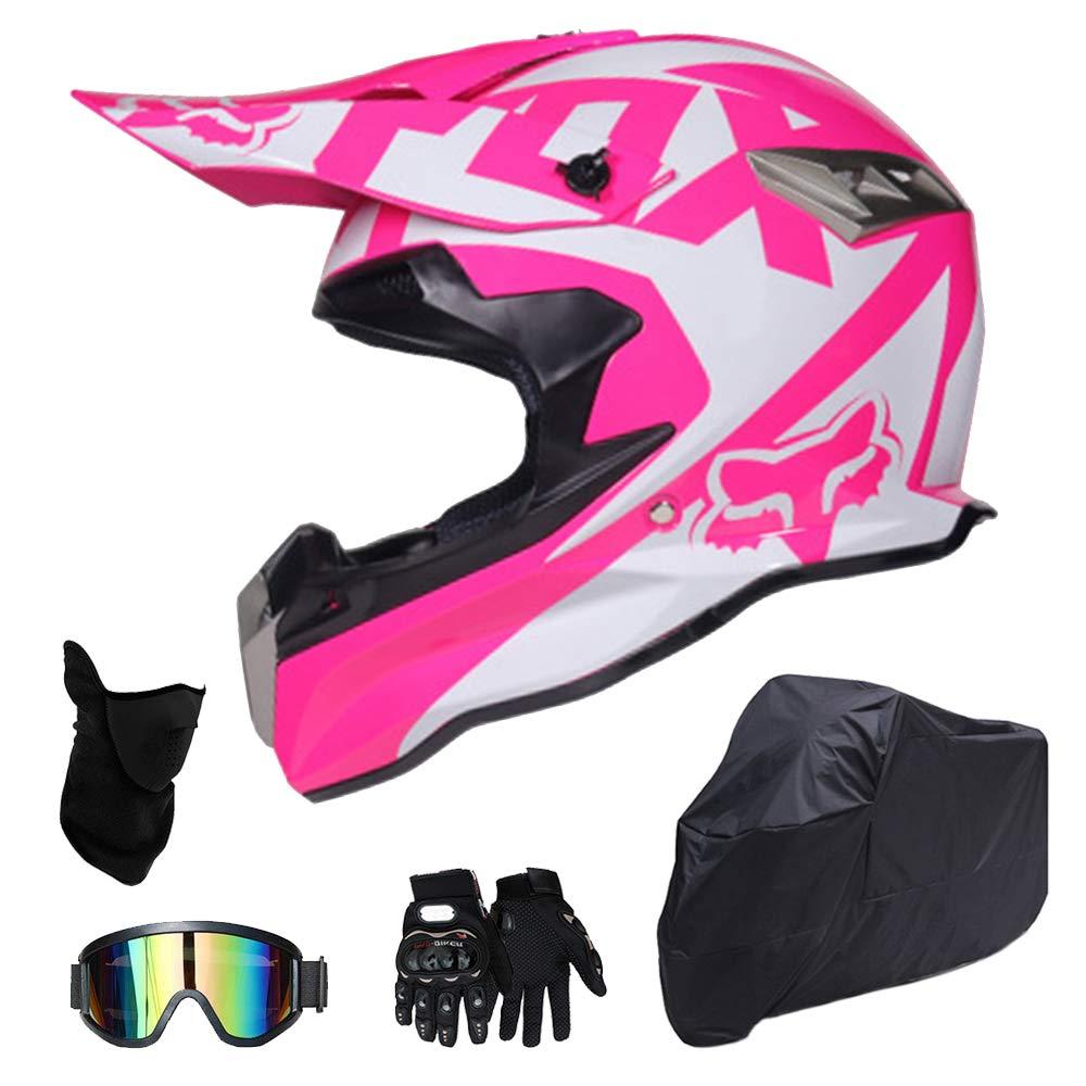 モトクロスヘルメット男性女性青年成人オフロードフルフェイスモトサイクルヘルメット付き無料ギフトゴーグルグローブなどコンボセット Helmet/M Combo/B B07R7NPJ86