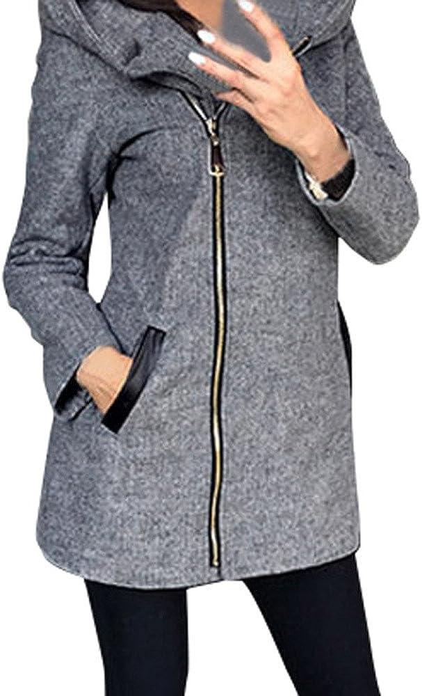 Beikoard Vestiti Donna Invernali Giubbotto Donna Invernale,motoabbigliamento Moda Donna Autunno Inverno Cappotto Cappotto Giacca Outwear Parka Soprabito Cardigan Grigio,XL