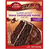 Betty Crocker Baking Mix, Super Moist Cake Mix, Triple Chocolate Fudge, 15.25 Oz Box