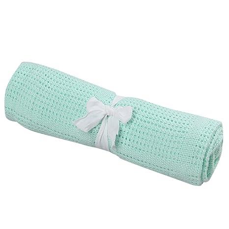 Manta de bebé celular 100% algodón – cochecito & ~ viaje extra suave celular mantas